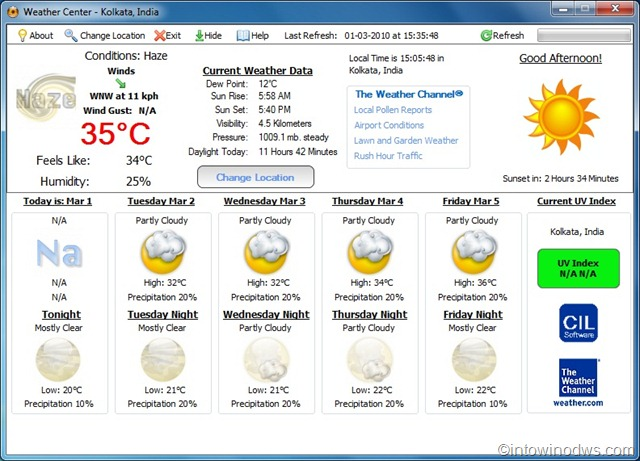 Display Current Weather Temperature Next To Clock With