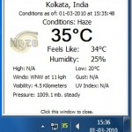 Display Current Weather Temperature Next To Clock With Weather Center