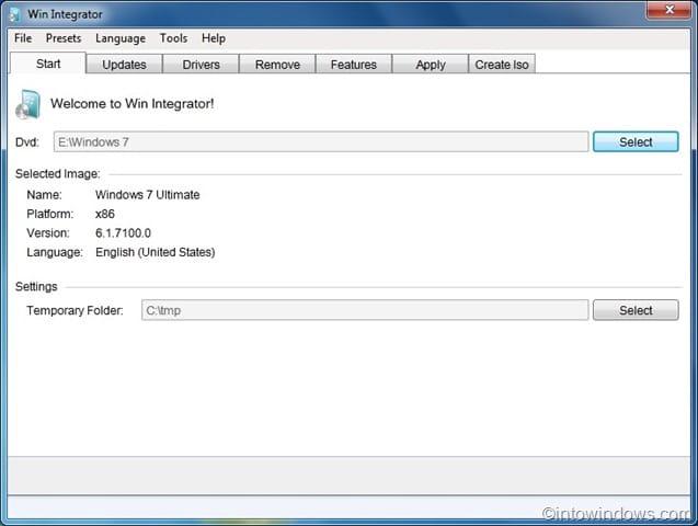 windows 7 iso  sizer
