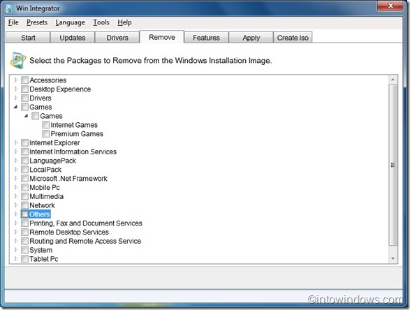 Win Integrator for Windows 7