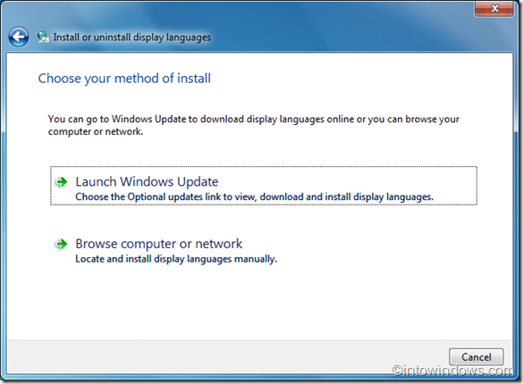 install language in windows 7
