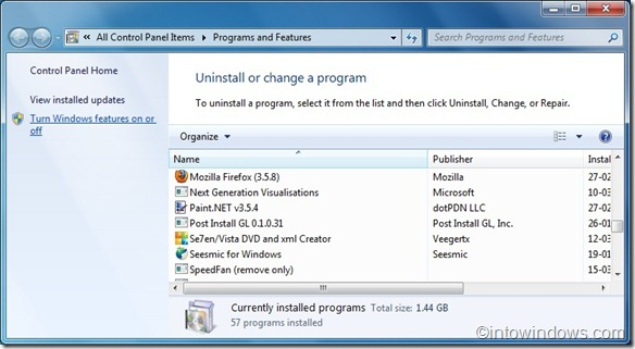 reinstall windows media center in windows 7 guide1