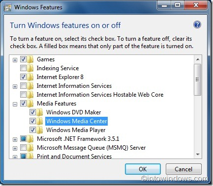reinstall windows media center in windows 7 guide2
