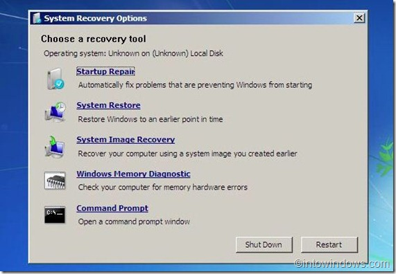 repair windows 7 from usb flash drive