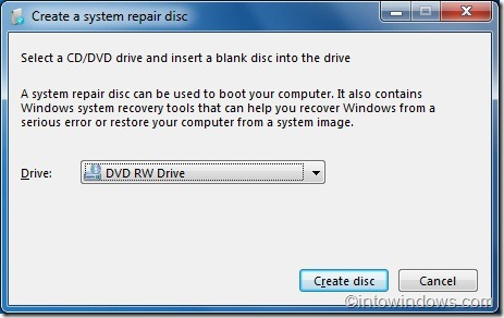 repair windows 7 from usb flash drive wihout installation disc 1