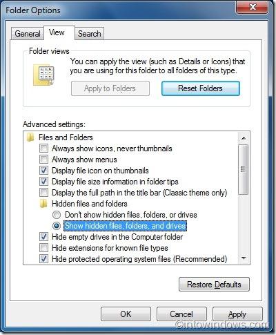 repair windows 7 icons