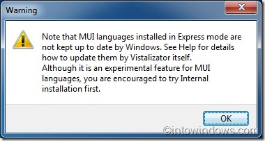 Installing Language Pack in Windows 7 Home Premium