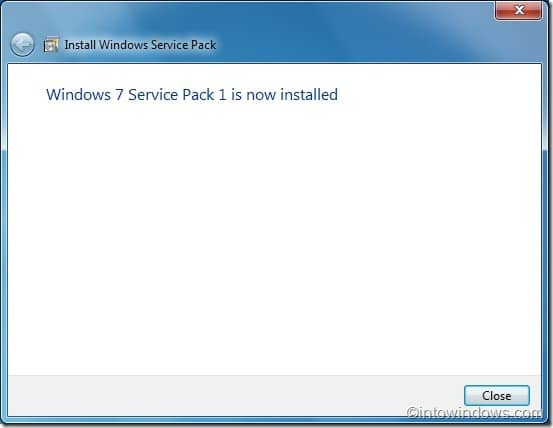 Installing Windows 7 sp1