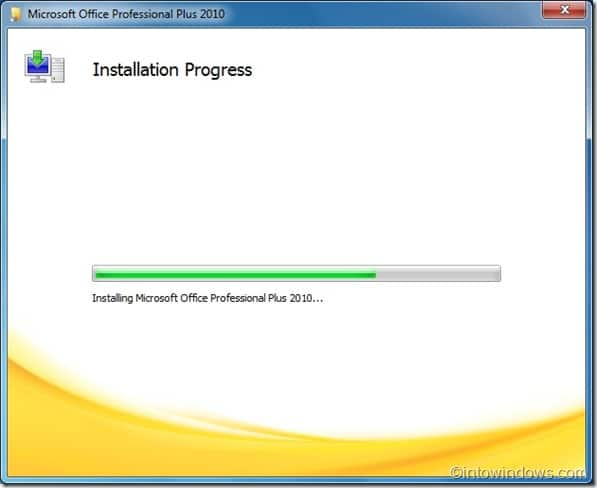 Installing office professional plus 2010