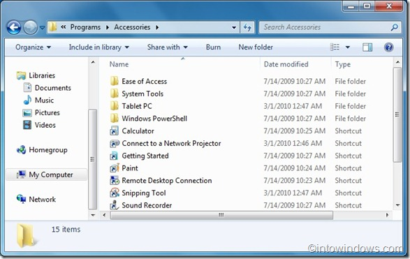 Manually organize start menu in windows 7