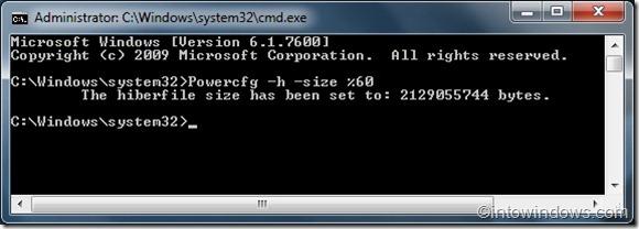 Reduce Hiberfile file size in Windows 7 guide