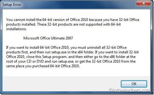 Upgrade Office 2007 to Office 2010