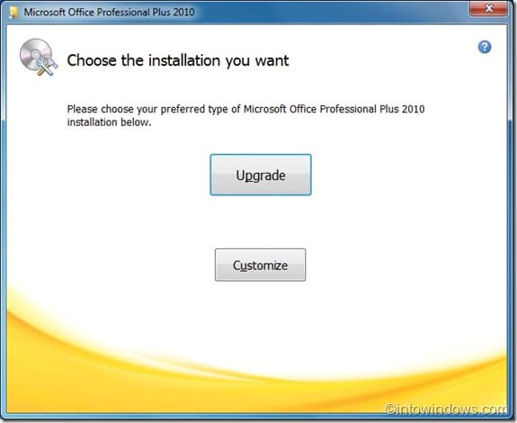 Upgrade Office 2007 to Office 2010 step2