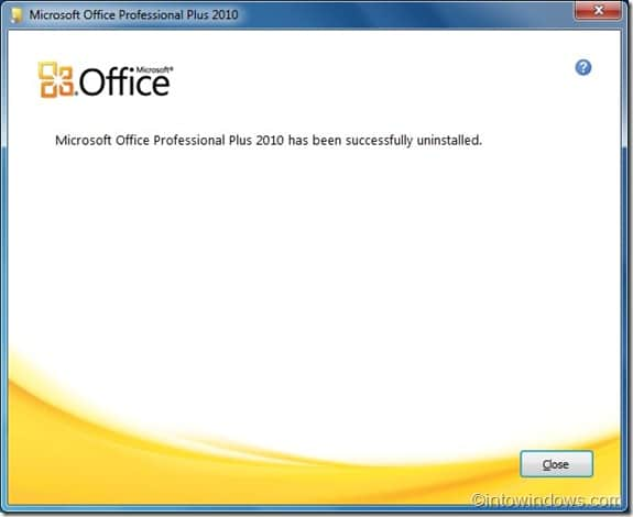how to uninstall office 2010