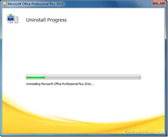 how to uninstall office 2010 beta