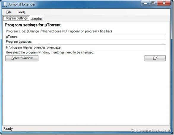 Jumplist Extender for Windows