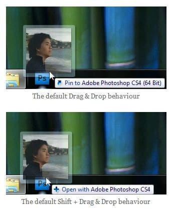 Reverse Windows 7 taskbar behaviour