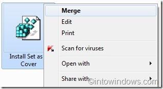 Set as folder cover