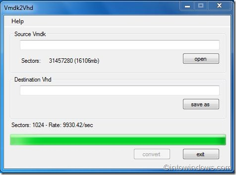 VMDK to VHD converter for windows