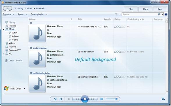Windows Media Player 12 in Windows 7