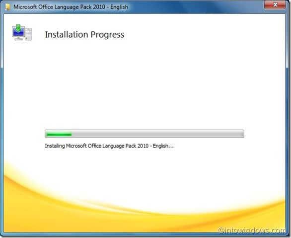installing Office 2010 language pack