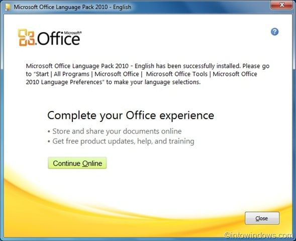 How To Install Microsoft Office 2010 Language Pack