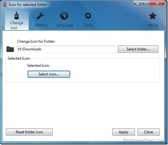 Change folder color and icon in windows 7
