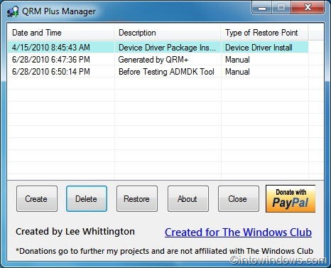windows 7 how to delete a particular restore point