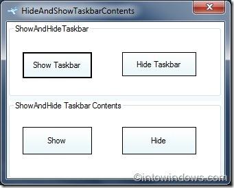 Hide Windows 7 taskbar buttons