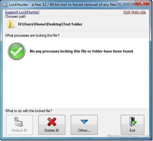 LockHunter for Windows 7