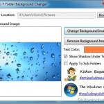 Change Folder Background In Windows 7 With Windows 7 Folder Background Changer