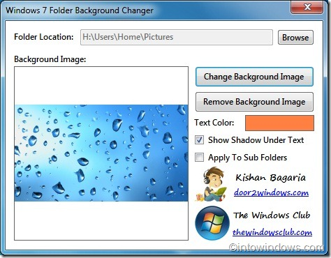 change folder background in windows 7 with windows 7