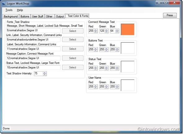 Windows 7 Logon Workshop