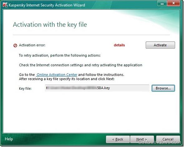 activate kaspersky 2011 offline
