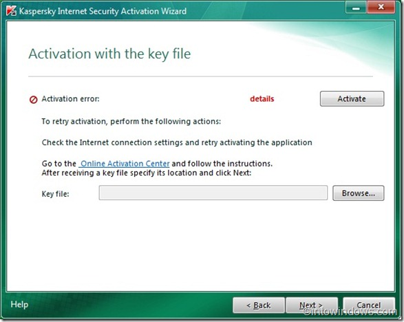 activate kaspersky 2011 offline with a key file