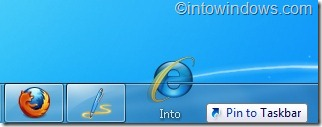 pin website to taskbar in windows 7