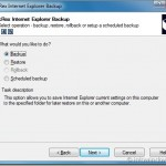 Backup & Restore Internet Explorer Settings With BackRex IE Backup