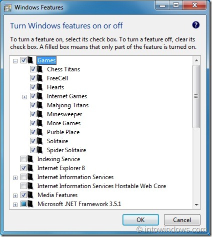 Enable games in Windows 7 Professional and Enterprise editions1