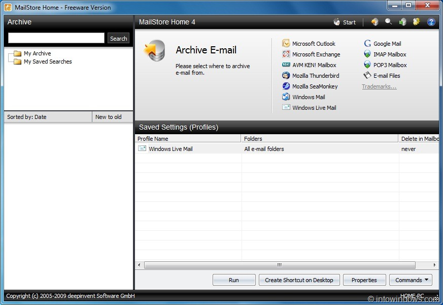 MailStore Home Free: Backup Emails From Microsoft Outlook, Windows ...