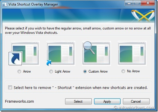 Shortcut Arrow Overlay Icon in Windows 7