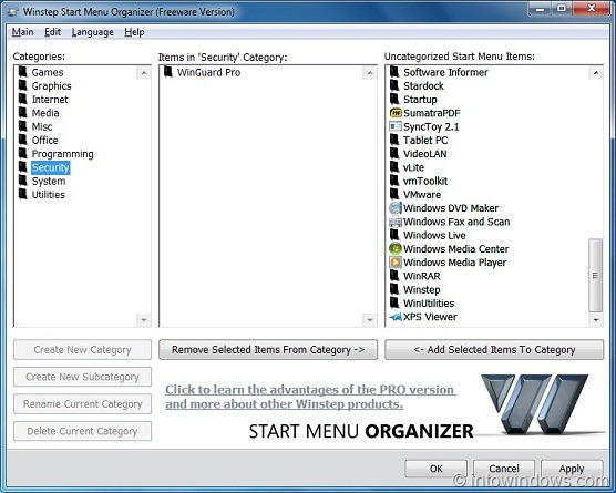 how to clean up start menu windows 7