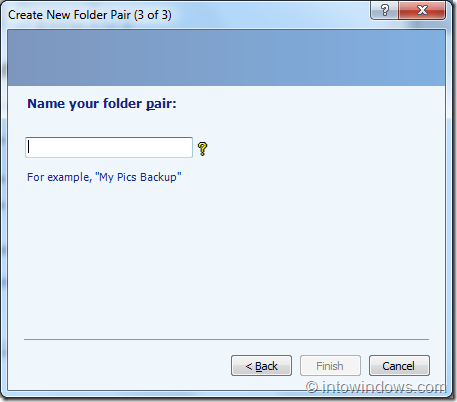 SyncToy for Windows step3