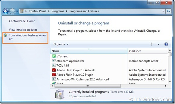 Disable Search feature in Windows 7 step4
