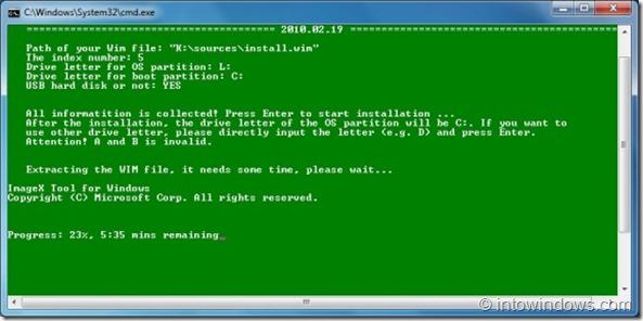 Install Windows 7 to an USB external hard drive7