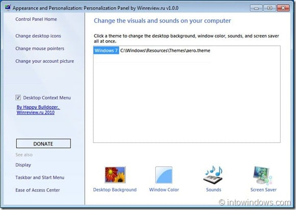 Personalization Panel for Windows 7[4]
