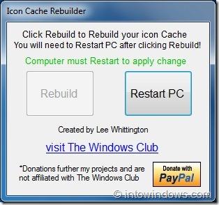 Rebuild Windows 7 Icon Cache