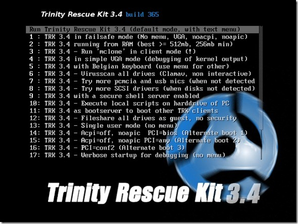 Trinity Rescue Kit for Windows