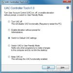 UAC Controller Tool Lets You Change UAC Settings From System Tray