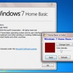 Change Window & Taskbar Color In Windows 7 Home Basic Edition With Home Basic Color Changer