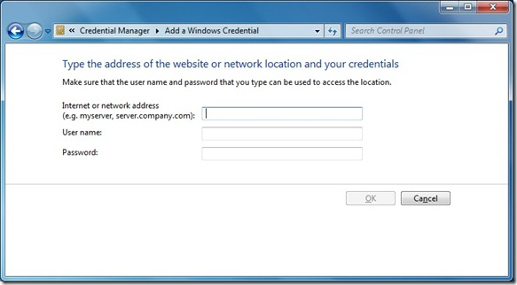 credential manager feature in windows 7